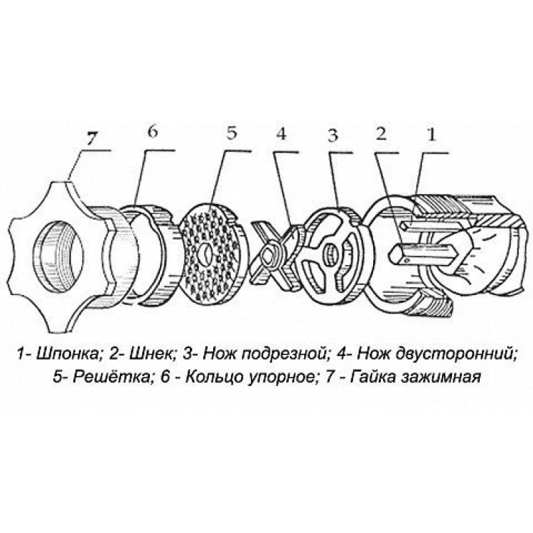 Машина для подрібнення м'яса Торгмаш МІМ80