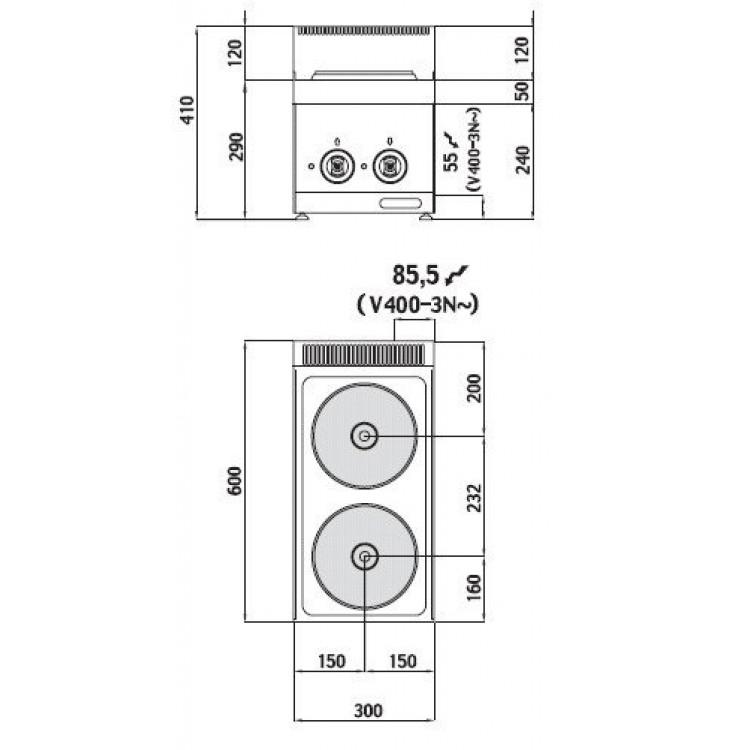 Плита електрична Bertos E6P2B
