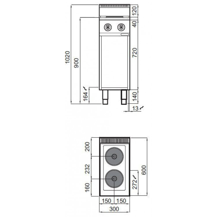 Плита електрична Bertos E6P2M
