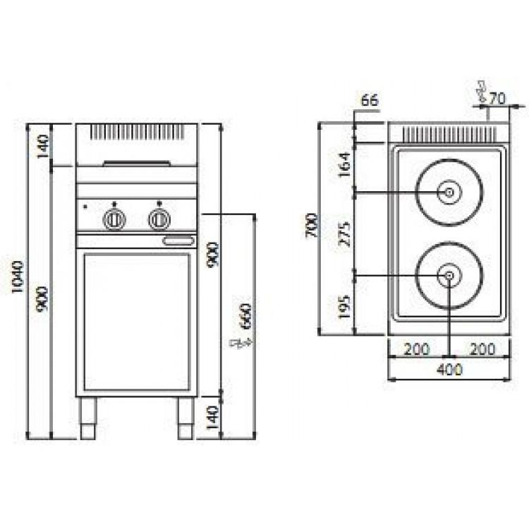 Плита електрична Bertos E7P2M