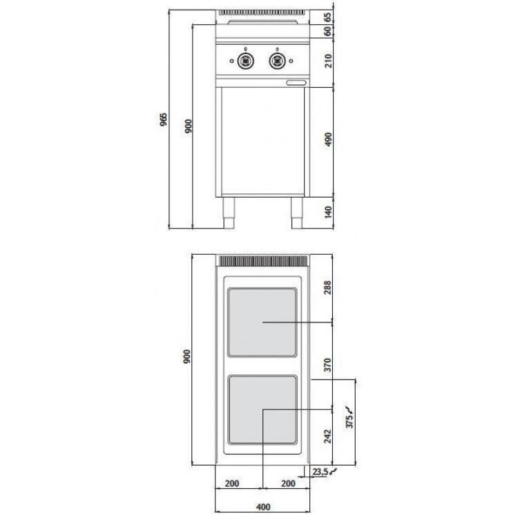 Плита электрическая Bertos E9PQ2M