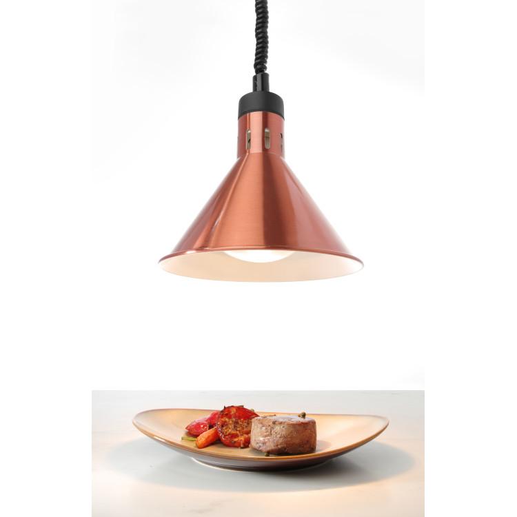 Конічна лампа для підігріву страв з регульованою висотою (мідна) - 273876 Hendi