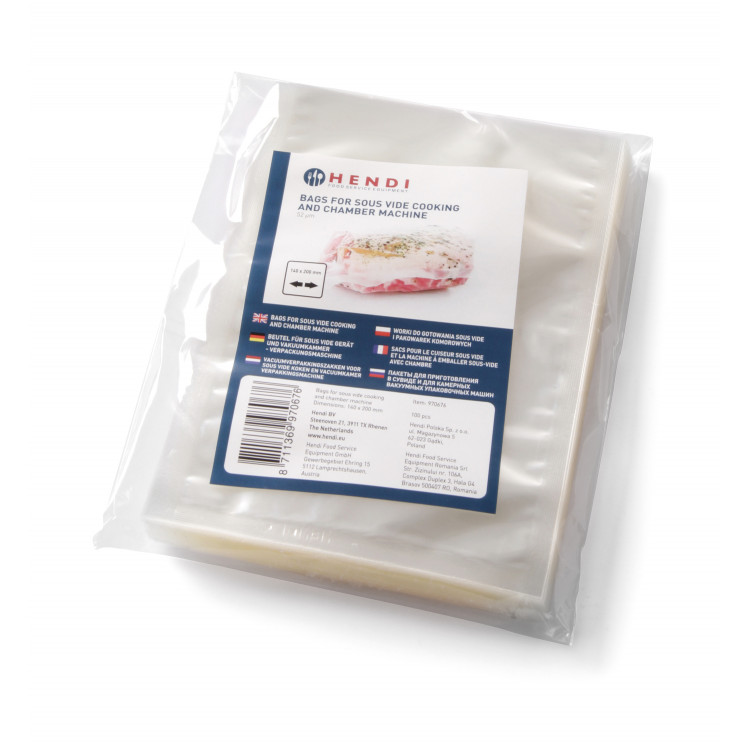 Вакуумні пакети для су-вид гладкі Hendi 970652 160X230-55 100 шт.