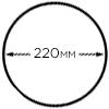 слайсер з ножем 220mm